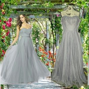 Watters Bridesmaid 2304 Flounce trim tulle dress